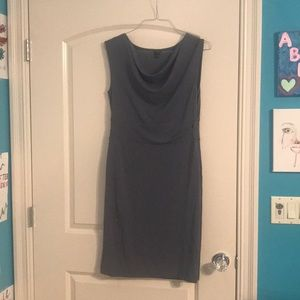 Mid length gray dress